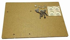 Base Acrílica para Fixação para Arduino Uno e Protoboard 400 Furos