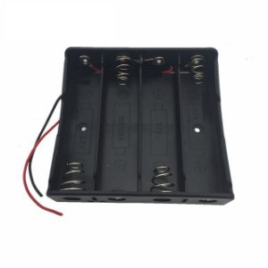 Suporte Bateria 18650 4 Slots