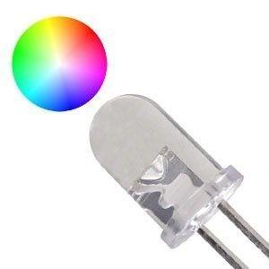 Led Transparente 5mm RGB Pisca Automático
