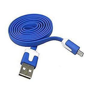 Cabo de Dados Micro Usb Emborrachado Azul