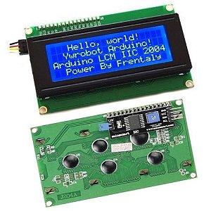 Display Lcd 20x4 com Adaptador I2C Backlight Azul