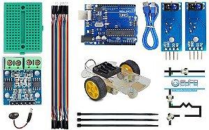 Kit Robô Seguidor de Linha V1 com Manual de Instruções
