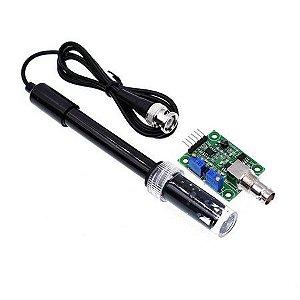Sonda Eletrodo Sensor de PH com Módulo PH4502C