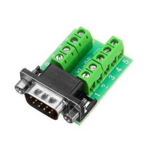 Módulo DB9 Macho para Borne RS232 Serial