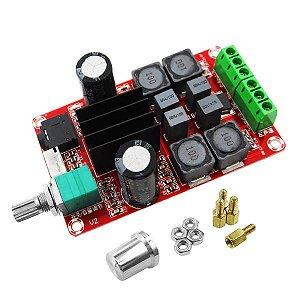 Mini Módulo Amplificador de Som TPA3116 Estéreo 2 Canais 100W + 100W
