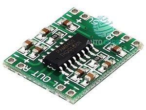 Placa Amplificador de Som Estéreo 2 canais 3W + 3W - PAM8403