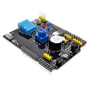 Shield Multifunções com Sensores e I/Os para Arduino