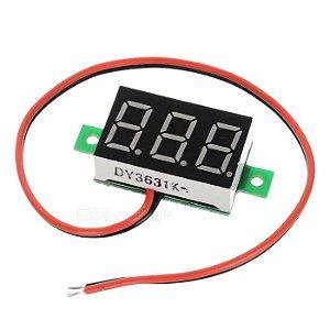 Voltímetro Digital 3 dígitos LED  - Vermelho