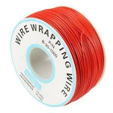 Fio Wire Wrap 30AWG Vermelho - Venda por Metro