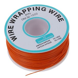 Fio Wire Wrap 30AWG Laranja - Venda por Metro