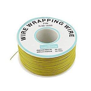 Fio Wire Wrap 30AWG Amarelo - Venda por Metro