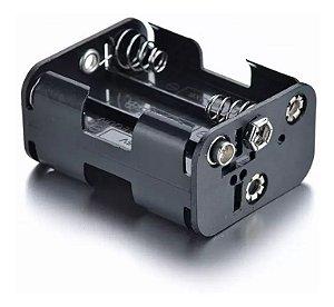 Suporte para 6 Pilhas AA Compatível com Clip de Bateria
