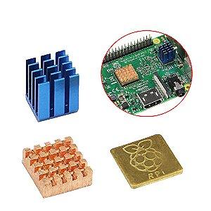 Kit Dissipador de Calor Raspberry Pi com Logotipo Oficial