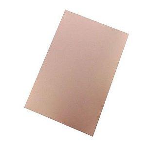 Placa Fenolite Cobreada Face Simples 30x15cm