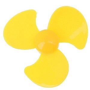 Micro Ventilador Hélice para Motor DC Amarelo
