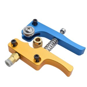 Kit Extrusora para Impressora 3d MK8 1.75mm Bowden Azul e Dourado
