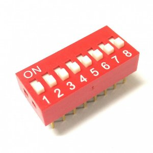 Chave DIP Switch 8 Vias