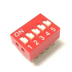 Chave DIP Switch 5 Vias