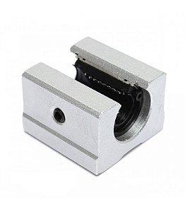 Pillow Block Aberto 12mm SBR12UU com Rolamento Linear
