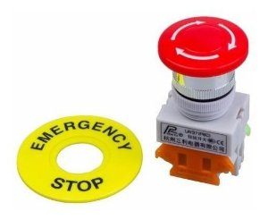 Botão de Emergência Cogumelo 40mm LAY37-11ZS