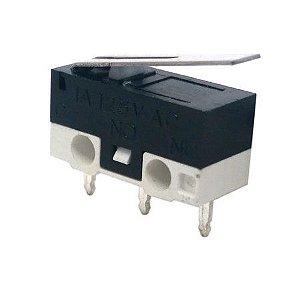 Micro Switch Chave de Fim de Curso KW10B com Fios Soldados