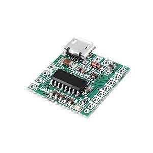 Módulo Amplificador de Áudio PAM8403 Micro Usb 3W