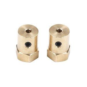 Acoplamento Hexagonal para Chassi Robótico 4mm