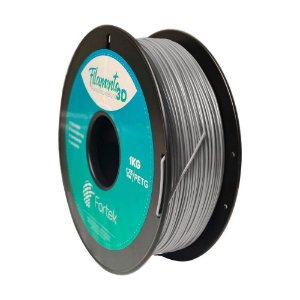 Filamento Petg 1.75mm 1Kg Prata