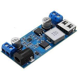Módulo Regulador de Tensão LM2596 para Saída USB 5V 5A