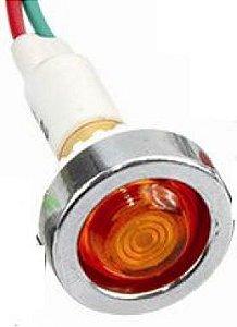 Sinaleiro Olho de Boi XD10-7 24V Amarelo