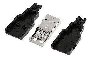 Conector Usb Macho Tipo A 4 Pinos