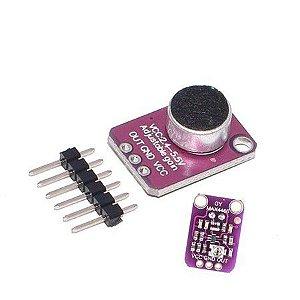 Módulo Microfone Eletreto com Ganho Ajustável MAX4466
