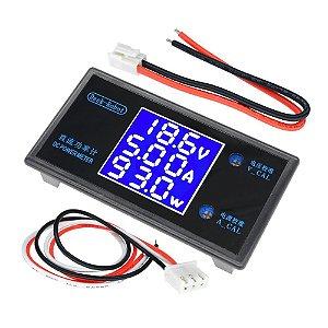 Painel Voltímetro / Amperímetro / Wattímetro 0-100V 10A