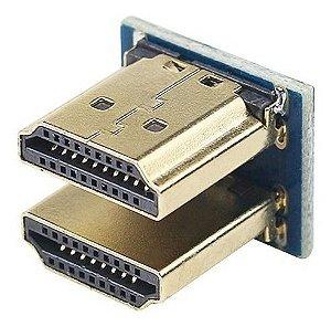 Módulo Conector HDMI Duplo para Uso com Tela LCD Raspberry Pi