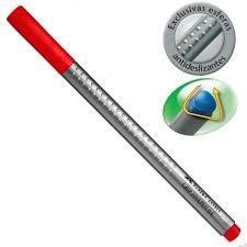 Caneta Hidrográfica Faber-Castell Finepen Grip 0,4Mm Vermelha