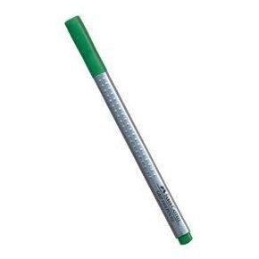 Caneta Hidrográfica Faber-Castell Finepen Grip 0,4Mm Verde