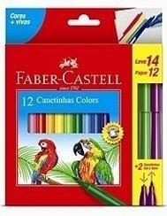 Caneta Prestocolor 12 Cores Faber-Castell 150112+2Vvzf
