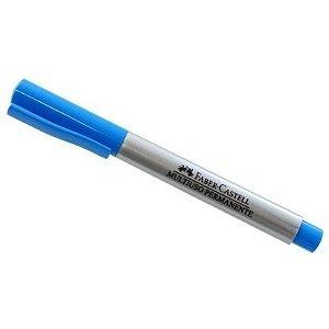Pincel Marcador Permanente Faber Multiuso 1.0 Azul Claro 047