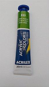 Tinta Acrilica Acrilex 20Ml Ref. 332 Verde Permanente Escuro