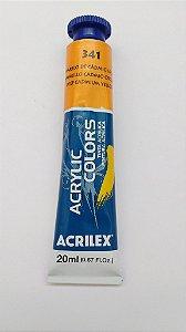 Tinta Acrilica Acrilex 20Ml Ref. 341 Amarelo Cadmio Escuro