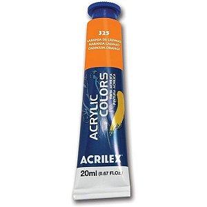 Tinta Acrilica Acrilex 20Ml Ref. 325 Laranja Cadmio