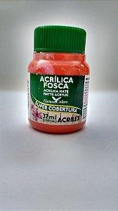 Tinta Acrilica Acrilex 37Ml Ref. 517 Laranja Fosca