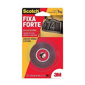 FITA DUPLA FACE ESPUMA 24MMX1,5MTS P/FIXAÇÃO CM0110