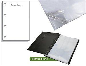 Saco Plástico Acp 0.12Mm A4 4 Furos Cx c/500un