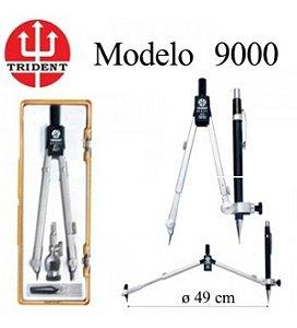 Compasso Trident 9000 Com Prolongador E Adaptador Universal