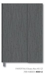 Caderno Otima Papertalk Basic Aba A5 Cinza 80Fl 4019-2