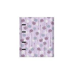 Caderno Otima Floral 177 Lilas Argolado 190Fl 4197-7