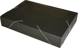Pasta Plastica Acp 55Mm Fumê Ref.1025  Espessura 0,50Mm