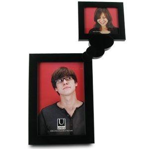 Porta Retrato Umbra para 2 fotos 10x15/6x7 Preto