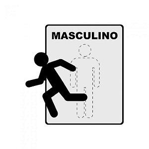 Placa Sinalização Geguton Toilette Masculino